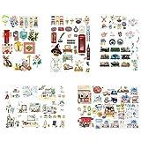 Vikenner 5 Piezas Bullet Journal Stickers Misceláneas Scrapbooking Pegatinas para Scrapbook y Bullet Journal Papelería Planificador Pegatinas DIY Decoración - 14.8 x 21 cm