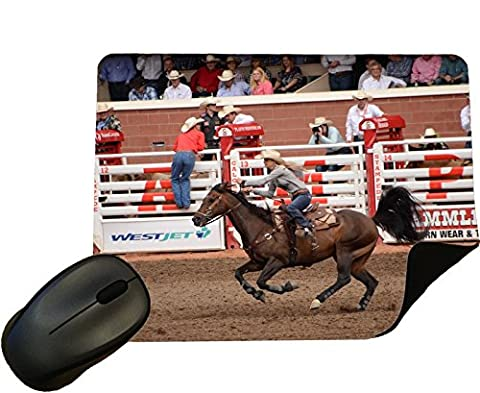 Rodeo Barrel Racing at Calgary Stampede Mouse Mat / Pad - By Eclipse Gift Ideas