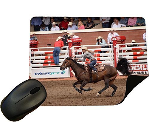 Rodeo Barrel Racing at Calgary Stampede Mouse Mat/Pad - By Eclipse Gift Ideas