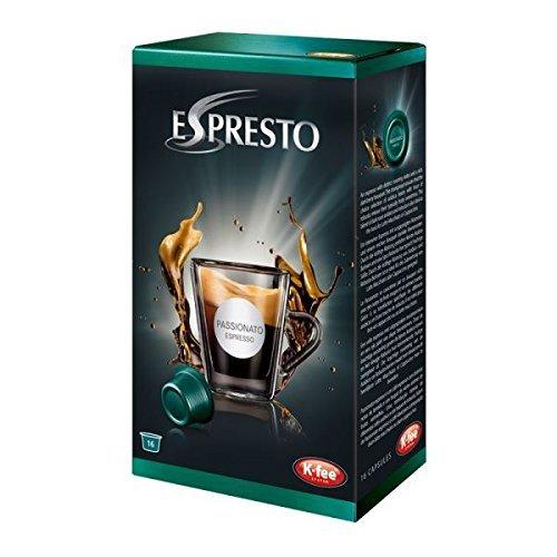 Preisvergleich Produktbild K-Fee Espresto Espresso Passionato,  Coffee,  Arabica,  Intensity 7,  16 Capsules by Espresto