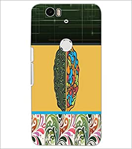 PrintDhaba Abstract Design D-5622 Back Case Cover for HUAWEI NEXUS 6P (Multi-Coloured)