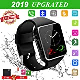 Allstarry Smartwatch con Whatsapp,Bluetooth Smart Watch Pantalla táctil,Reloj Inteligente Hombre con Cámara, Impermeable Smartwatches Telefono Sport Compatible Android iOS para Hombre Mujer Negro