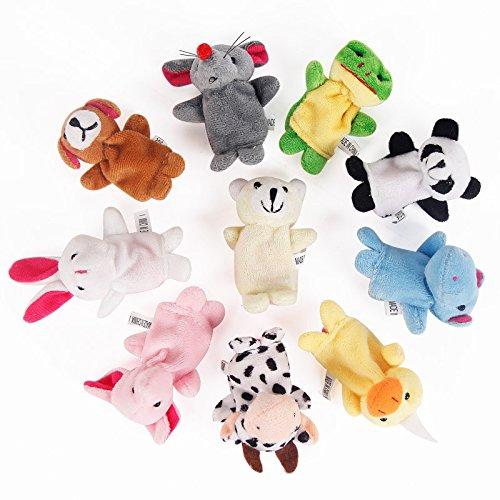 Scrox 10 Unids Marionetas Dedo Juguete Novedad Bebé