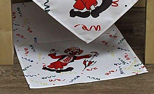 Hossner lustige Tischdecke 40x100 cm eckig Karneval Clown m. Schirm Fasnacht Fasching Kindergeburtstag (40 x 100 cm) -