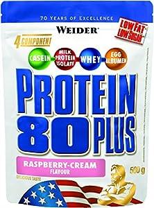 Weider 80 Plus Protein, Himbeer-Sahne (1 x 500 g)