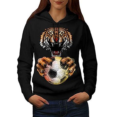 Sport Ball Tiger Animal Women L Hoodie | Wellcoda