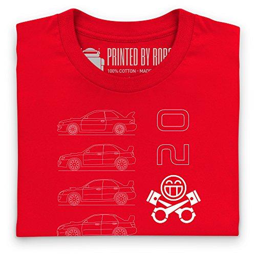 STI Generations T-Shirt, Herren Rot