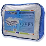 Homescapes - Ultrasoft Super Microfibre - 10.5 Tog - Double Size - The Best Synthetic Duvets designed for And Used By The Best 5 and 7 Star Hotels From Around The World - Anti Allergy - Anti Dustmite - Box Baffel Construction - Washable at Home