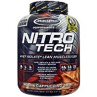 MuscleTech Nitro Tech Whey Isolate Lean Muscle Builder Mocha Cappuccino, 4 lbs.