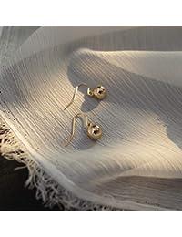 6e9451c5387f YOYOYAYA Aretes De Oro 14K Gold Frijoles Ganchos De Oreja Joyas Hembra  Chica Delicado Parte Fecha