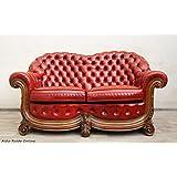 Sillón de Chesterfield de sofá de piel con alt antiguo de la vendimia del Sofá de dos
