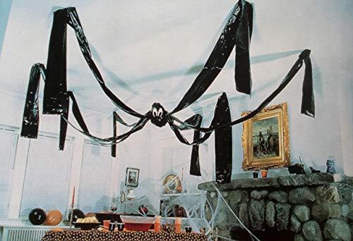 saxxdeluxe 300 cm Riesen Gigant Spinne Wohnzimmer Dekorationen Deko Deckenhänger für (Riesen Spinne Halloween Deko)