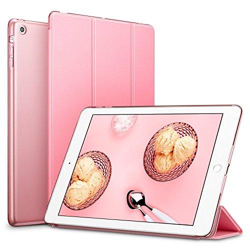 ESR iPad Mini Hülle, Auto Aufwachen/Schlaf Funktion PU Ledertasche Smart Case Cover mit Durchschaubar Rückseite Abdeckung Schutzhülle für iPad mini 3/2/1 (Süß Rosa)