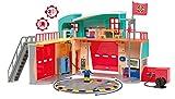 Smoby - Sam Le Pompier - Caserne de Pompier Pontypandy - + 1 Figurine - Piles Incluses