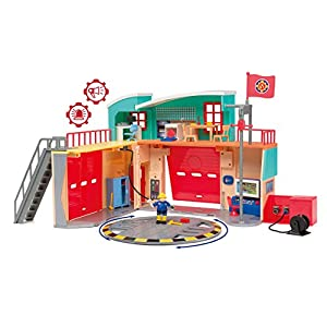 Smoby Fireman Sam Pontypandy Fire Station with 1 Figurine and Batteries Included
