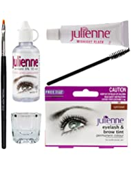 New Julienne Eyelash Eyebrow Tinting Kit Dye Light Brown Brush Tint Dish Oxidant