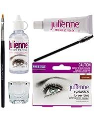 New Julienne Eyelash Eyebrow Tinting Kit Dye Light Brown Brush Tint Dish Oxidant