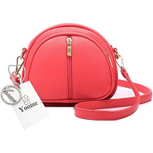 Yoome retrò Lichee modello piccolo borsa a traina borsa a tracolla in pelle borse per donne - crema Anguria rossa