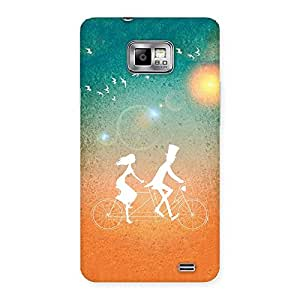Cycle Couple Dream Back Case Cover for Galaxy S2