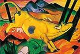 1art1 118544 Franz Marc - Die Gelbe Kuh, 1911 XXL Poster 120 x 80 cm