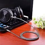 Aux-Kabel, Kinps 1,2m Nylon geflochten Audiokabel klinke 3,5mm für auto,Kopfhörer,Lautsprecher, iPhone, iPad, iPod, Samsung, und MP3 Player. - 2