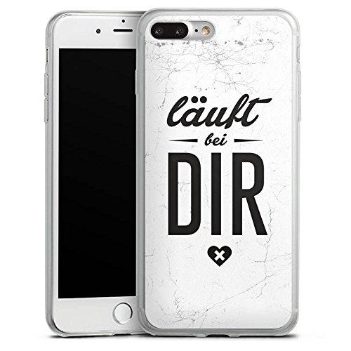 Apple iPhone 8 Plus Slim Case Silikon Hülle Schutzhülle Sprüche Läuft Bei Dir Spruch Silikon Slim Case transparent