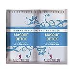 SECRETS DES FEES - Detox Sauerstoffmaske - Antioxidant, regenerierend und schützend für die Haut - mit grünem und weißem Tee - 100% natürliche Inhaltsstoffe - 2 x 8 g