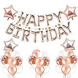 Deko Geburtstag ,Kindergeburtstag Geburtstag Dekoration Set ,Pomisty Happy Birthday Decoration mit 1