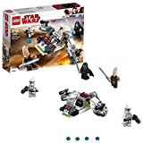 LEGO 75206 Star Wars Jedi and Clone Troopers Speeder Building Set inc.l. Ki-Adi Mundi Minifigure, Star Wars Toys for Kids