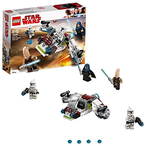 LEGO Star Wars Jedi und Clone Troopers Battle Pack 75206 Star Wars Spielzeug (Wars Star Lego Minifiguren-set)