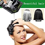serliy 10PCS Black Hair Shampoo Weißes Haar in Schwarz Instant Haarfärbemittel Natural Black
