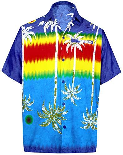 *La Leela* Shirt Camicia Hawaiana Uomo XS - 5XL Manica Corta Hawaii Tasca-Frontale Stampa Hawaiano Casuale Regular Fit Rosso999 - 518cFqqej9L - *La Leela* Shirt Camicia Hawaiana Uomo XS – 5XL Manica Corta Hawaii Tasca-Frontale Stampa Hawaiano Casuale Regular Fit Rosso999