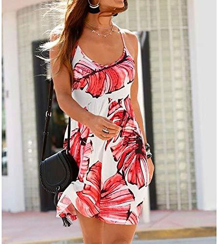 Beach time - Strandkleid Sommerkleid Kleid Damen Trägerkleid Gr 38 koralle-weiß 113973