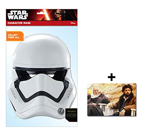 First Order Stormtrooper Official Star Wars The Force Awakens Single Karte Partei Gesichtsmasken (Maske) Enthält 6X4 (15X10Cm) starfoto
