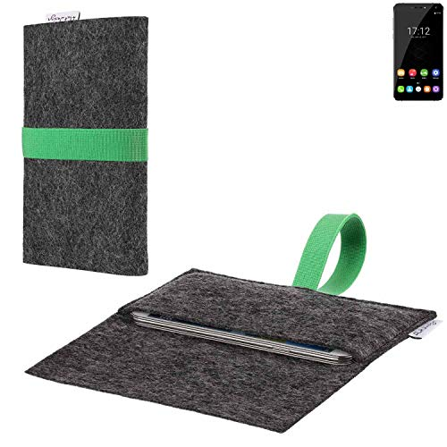 flat.design vegane Handy Hülle Aveiro für Oukitel U11 Plus passgenaue Filz Tasche Case Sleeve Made in Germany