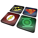 DC Csp0010 Originals Batman/Superman/Flash/vert Lanterne Lot de 4 sous-verres