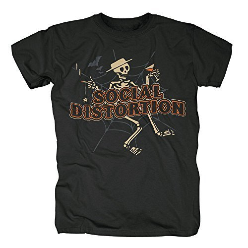 SOCIAL DISTORTION - SKELLY HALLOWEEN - OFFICIAL MENS T SHIRT - Nero, Medium