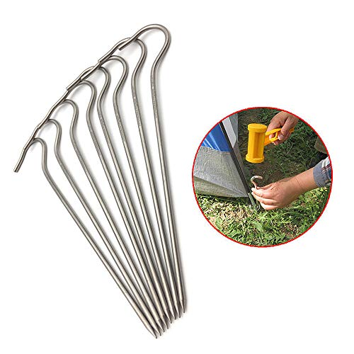 20 picchetti in acciaio per tenda da giardino, campeggio, escursionismo, lunghezza: 18 cm