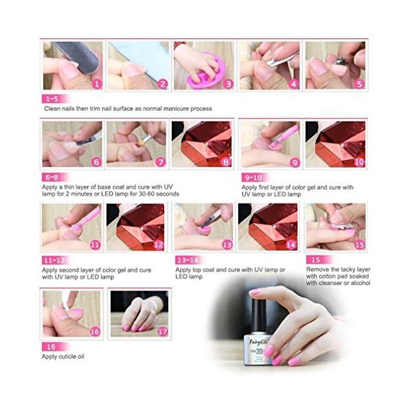 Esmalte de Uñas Semipermanentes Set de Uñas Pintauñas Manicura Semipermanente Color Uñas de Gel UV LED Soak Off 12pcs…