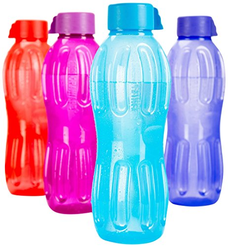 Signoraware Aqua Water Bottle Set, 1 Litre, Set Of 4 Multicolour