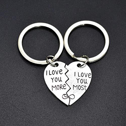 Carriea 1 Paar Eleganter Schlüsselband Schlüsselbund Anhänger Paar Schlüsselbund 4 * 2.8 * 5.5cm