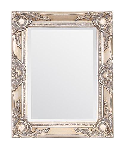 Select Mirrors Haywood - Espejo de pared con diseño de barroco de estilo francés, 42 x 52 cm, diseño de champán