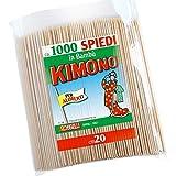 Kimono - Spiedini in legno di bambù - Stecchini per spiedini, barbecue - Spiedi legno lunghi 20 cm - confezione 1000pz