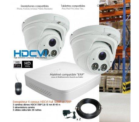 HD CVI Sistema HDCVI videovigilancia 2Cámaras