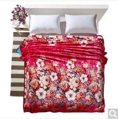 BDUK Doppelseitige Raschel dicke Decke Brutto Hochzeit im Winter warme Decke ,B1,200*230cm 8 Catties zurücksetzen