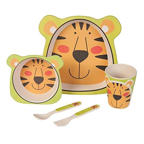 Set–couvert-Tigre-Ustensiles-en-bambou-Ustensiles-pour-enfants-rutilisables-Assiettes-Gobelets-Bol–muesli-cuillre-fourchette-rsistant-au-lave-vaisselle-sans-BPA