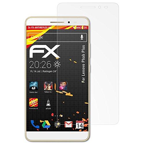 atFolix Schutzfolie kompatibel mit Lenovo Phab Plus Bildschirmschutzfolie, HD-Entspiegelung FX Folie (3X)