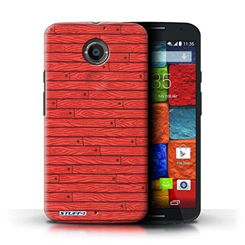 Kobalt® Imprimé Etui / Coque pour Motorola Moto X (2014) / Beige conception / Série Motif Bois Rouge