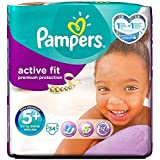Pampers Active Fit Nappies Size 5 + Essential Pack 34 per pack by Pampers