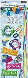 Paper House Productions Foglio di cartoncino Adesivo da Parete, Motivo: Piscina, Carta, Multi-Colour, 33.2 x 11.7 x 0.1 cm